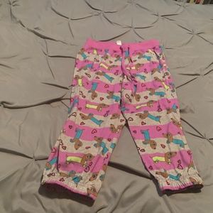 JUSTICE GIrl's Purple Dogs Pajama Bottoms. Size 12
